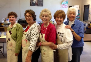 The Kitchen Ladies: MA, Loretta, Margaret, Vivian, Mary